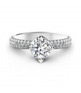 Forevermark Setting™ Solitaire Pavé Gyűrű